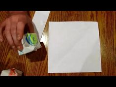 How to cut a perfectly square piece of paper WITHOUT SCISSORS - by Mr. Otter Art Studio.