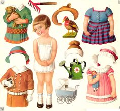 recort, craft, vintage paper dolls, papers, paper toy, paperdolls, vintag paper, printabl, kid
