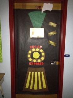 Polar Express Classroom door design