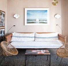 The sunny lounge of Tangier's Grand Hotel Nord- Pinus embodies effortless chic I domino.com