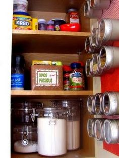 love the spice rack inside the cupboard door