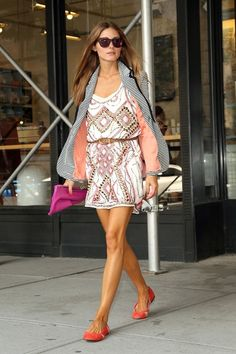 op summer dresses, fashion, casual summer, blazer, mini dresses, outfit, street styles, olivia palermo, stripe