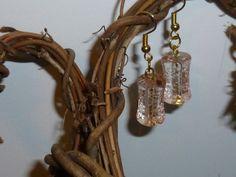 Light Peach Dangle Earrings by TrueColorsBoutique on Etsy, $10.98