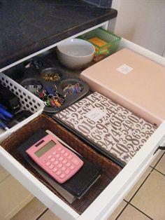 organized junk drawer by Emilie Q