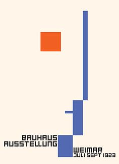 By  Bauhaus Exhibition, Weimar (1923)    Artist : Fritz Schleifer (Germany 1903-1977)