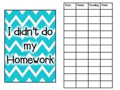 missed homework binder
