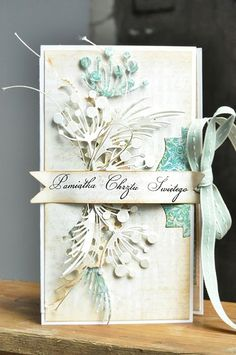 Beautiful card - Memory Box dies