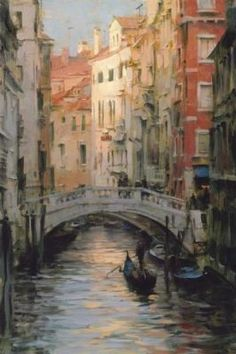 "Dmitri Danish, a very talented artist... ""Gondola Reflections""."