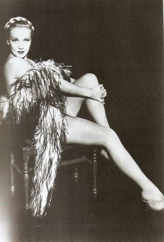 Marlene Dietrich out of her mens clothing; gorgeous no matter what she wears.