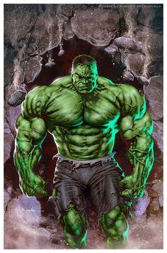 #Hulk #Fan #Art. (The HULK) By: Valzonline.