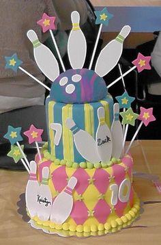 Birthday- Bowling Birthday Cake