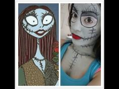 Halloween Makeup Tutorial: Sally (Nightmare Before Christmas)