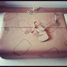 Mason Jar Wrapping Paper Christmas Wrapping Paper Country Christmas Decorations Mason Jar Christmas Wrapping Paper Kraft Brown Paper. $10.00, via Etsy. jar christma, paper christma, jar wrap, christma wrap, wrap paper, christmas decorations, country christmas, mason jars, christmas wrapping