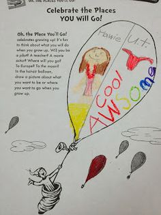 Oh, The Places You'll Go in 1st Grade