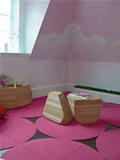 These Flor tiles would be the perfect addition to a modern playroom. #littlenest #pinparty