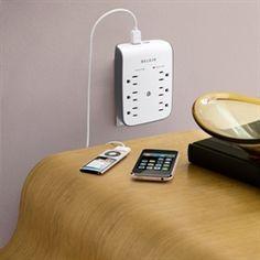 Belkin USB charging 6-outlet surge protector $20