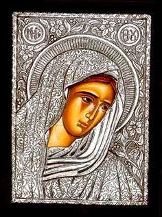 Silver Greek Orthodox Icon