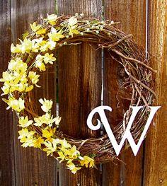 Personalized 18 Wreath Front Door Decor Summer by WarnerDecor, $43.99