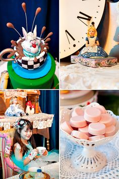 Vintage Style Alice in Wonderland Birthday Party **headband and gloves**