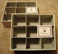 good way to organize baby shoes -- sock organizer from TJ Maxx
