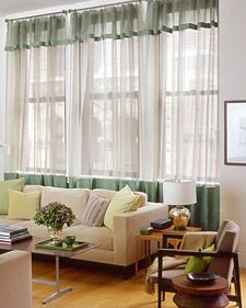 Linen-Trim Curtains | Step-by-Step | DIY Craft How To's and Instructions| Martha Stewart