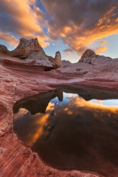Sunset Reflections of Escalante Grand Staircase ~ Vermillion Cliffs National Park, Arizona