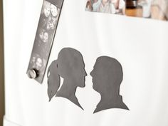 diy silhouette magnets