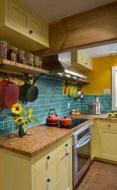 teal kitchen ideas, colorful backsplash, colorful kitchen ideas, cheap kitchen backsplash ideas, farmhouse kitchens, subway tiles, kitchen decorations, farmhous kitchen