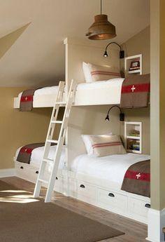 kid space, kid rooms, bunk room
