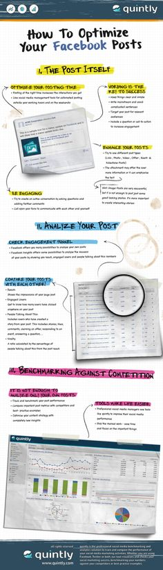 How to optimize your post to FaceBook #Infographic #SMM #Marketing #FacebookTips