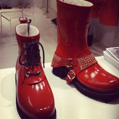 Red Boots from Vision Fair trade Copenhagen 2014