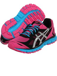 So excited about my new  hot pink, Thin Blue Line,  Asics shoes for the Mini!