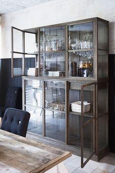 grey glass storage