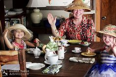 A British tea party: fancy hats & royal waves!