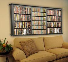 wall mount, movie rooms, tripl wall, wall storage, dvd storage