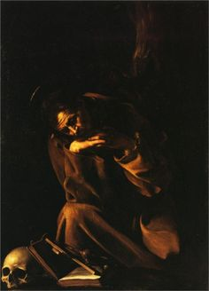 Saint Francis in Meditation, 1606  Caravaggio