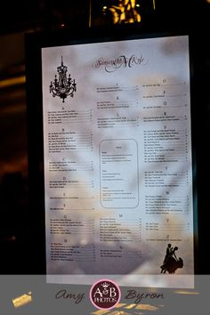 our wedding seating chart instead of escort cards