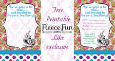 Free party printables for your mad hatter party!