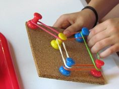 fine motor little boxes, pin boards, peg boards, cork boards, board games, fine motor, motor skills, rubber band, kid