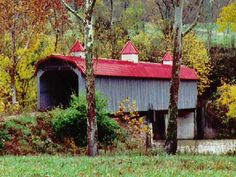 Bridge of Madison County, c100', 1990s, 17-76-A) across Silver Creek W. of Richmond, Madison County, KY.