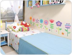 Funky Flower Wall Stickers for girls rooms