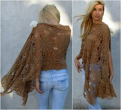 Women Accessories Crochet shawl - Sand color