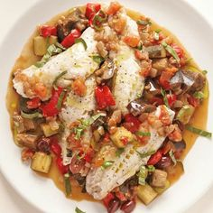 Steamed Fish with Ratatouille Recipe