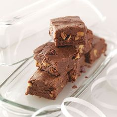 Triple Chocolate Fudge Recipe from Taste of Home -- shared by Linette Shepherd of Williamstown, Michigan