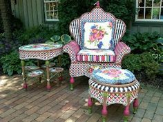 The Whimsy of MacKenzie-Childs for the garden.