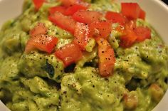 Healthy homemade zesty guacamole