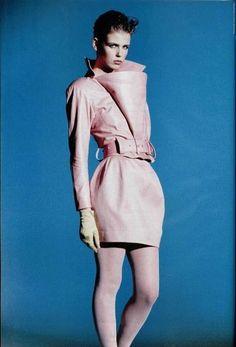 vintag, 80s fashionbook, claud montana, style, springsumm 1988, 1980s fashion, montana 198788, 1980s model, magazin 1980s