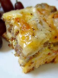 Breakfast Casserole Sausage, Egg and Biscuits Casserole 1 Can Buttermilk biscuit 1lb Jimmy Dean Sausage 1 C Shredded Mozzarella 1 C...