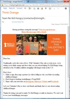 Valentine's Day campaign from No Kid Hungry