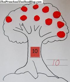 Orchard Play Dough Mats (Free File includes numbers 1-10) number activities kindergarten, number crafts preschool, play dough mats, preschool toolbox, apple orchard